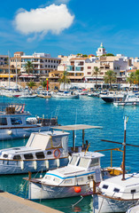 Poster European Famous Place Majorca Cala Ratjada Rajada in Capdepera Mallorca