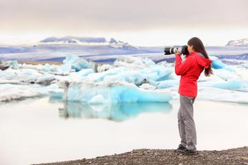 Nature landscape photographer taking on Iceland