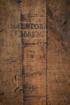 old storage - wooden background