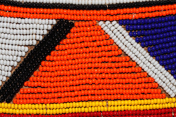 African beads of the Masai tribe, Kenya