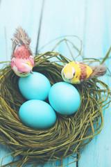 Easter still life, tinted