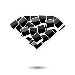 Diamond symbol instant photo frame template