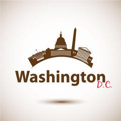 Vector silhouette of Washington DC, USA