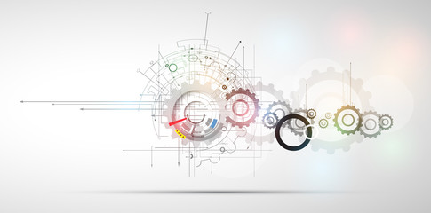 New Technology business background Wall mural