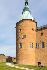 Castle tower in the courtyard