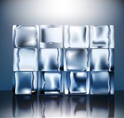 Twelve Ice blocks