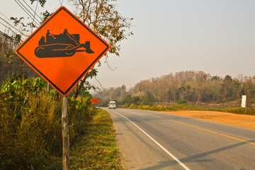 Under reconstruction road signs