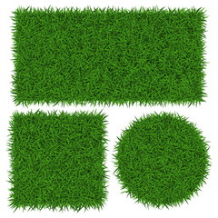 Green grass banners, vector illustration.