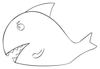 Happy holiday - April fish Shark