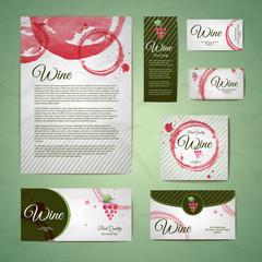 Grapes or Wine concept design. Corporate identity