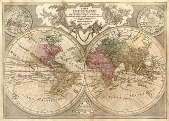 Obraz Stara mapa świata, fototapeta - fototapety do salonu