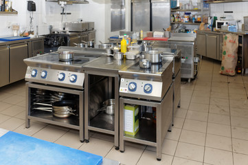 Kitchen of a restaurant