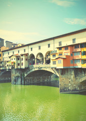 Wall Mural - Old bridge in Florence