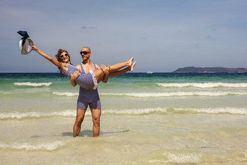 love couple on the sea