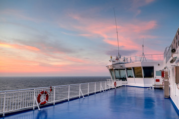 Deck of the Cargo passenger ferry