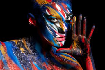 Body art on man