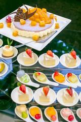 Wedding pie and dessert on reception