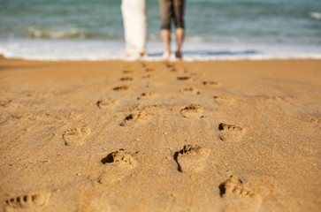 Love couple on the beach