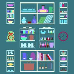 Modern kitchen interior  -  Stock Illustration