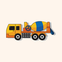 Cement mixer trucks theme elements