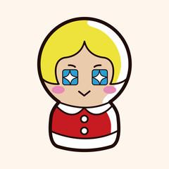 person character santa claus theme elements