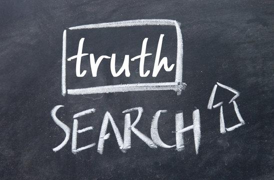 search truth interface on blackboard