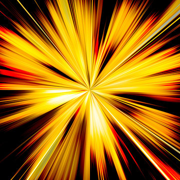Orange and yellow sunburst beams illustration