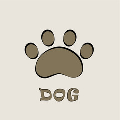 Footprints of dogs