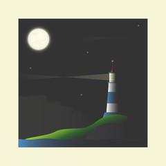 Lighthouse at night.
