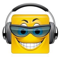 Square emoticon DJ