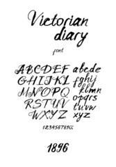 Vintage messy handwritten font