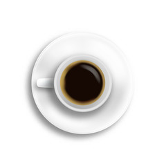 Top view coffee cup isolated vector