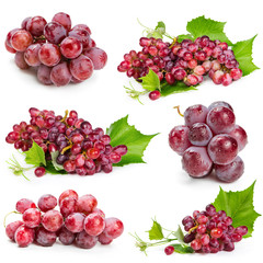 Set of red grapes