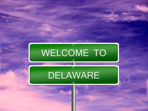 Delaware State Welcome Sign