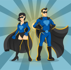 Superheroes vector illustration