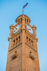 Clock tower at Central station