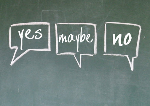 yes maybe and no chat sign on blackboard