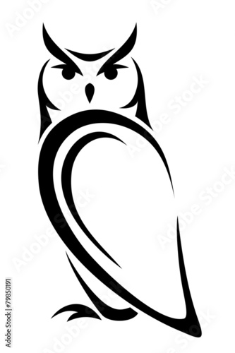 owl vector black silhouette stock image and royalty free vector rh fotolia com free owl vector image free owl vector clipart
