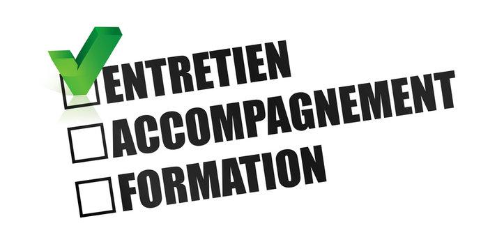 entretien, accompagnement et formation