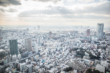 Keuken foto achterwand Tokyo aerial view of tokyo