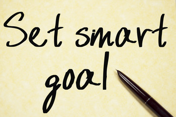 set smart goal text write on paper