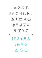 Modern, hipster font