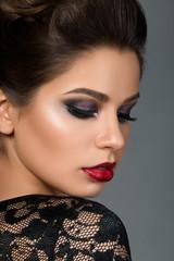 Beauty portrait of young beautiful woman
