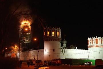 Novodevichiy monastery fire