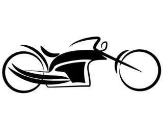 Fototapete - Tribal Chopper Bike