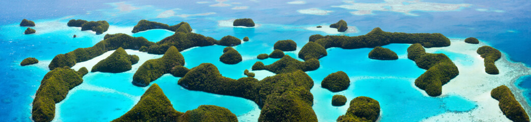 Wall Mural - Palau islands from above