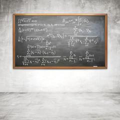 formula on chalk board