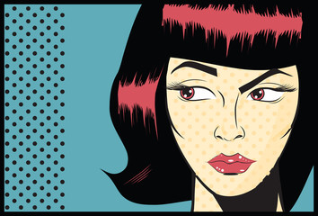 Pop Art Woman background