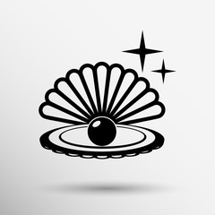 Gray web icon pearl isolated ball vector symbol element
