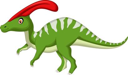 Dinosaur Parasaurolophus cartoon